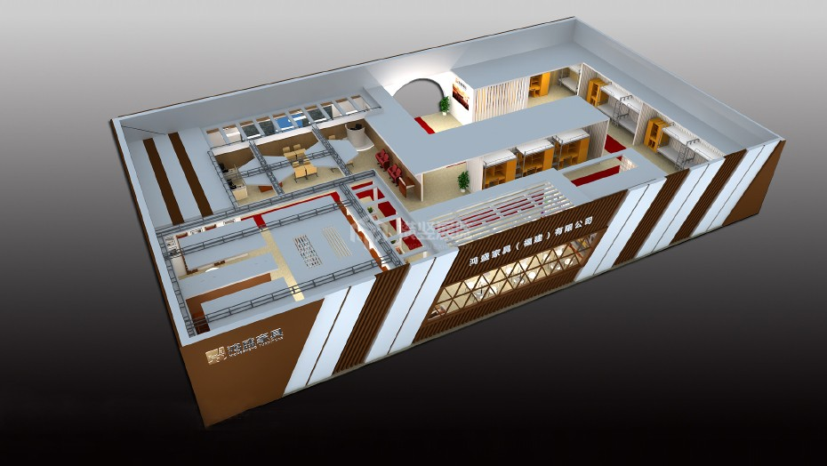 家具展展台设计搭建+鸿盛