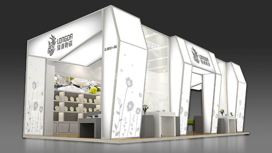 隆达骨瓷展台+广交会展台设计搭建