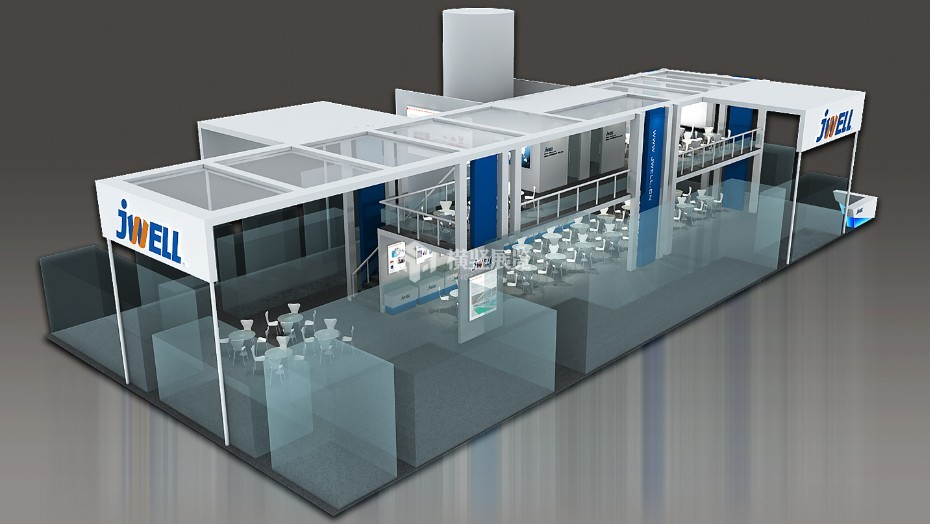 经纬展台+机械展展台设计搭建