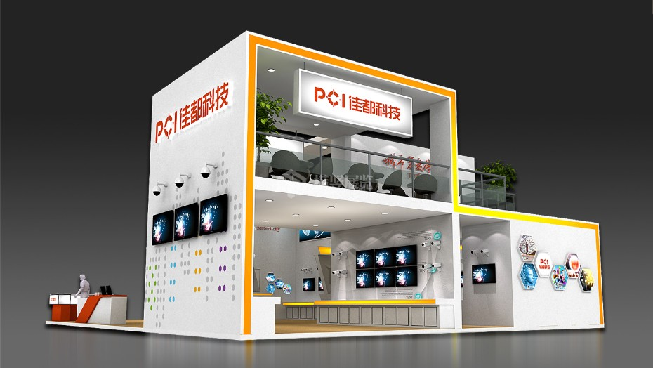 佳都科技-安防电子展展台设计搭建
