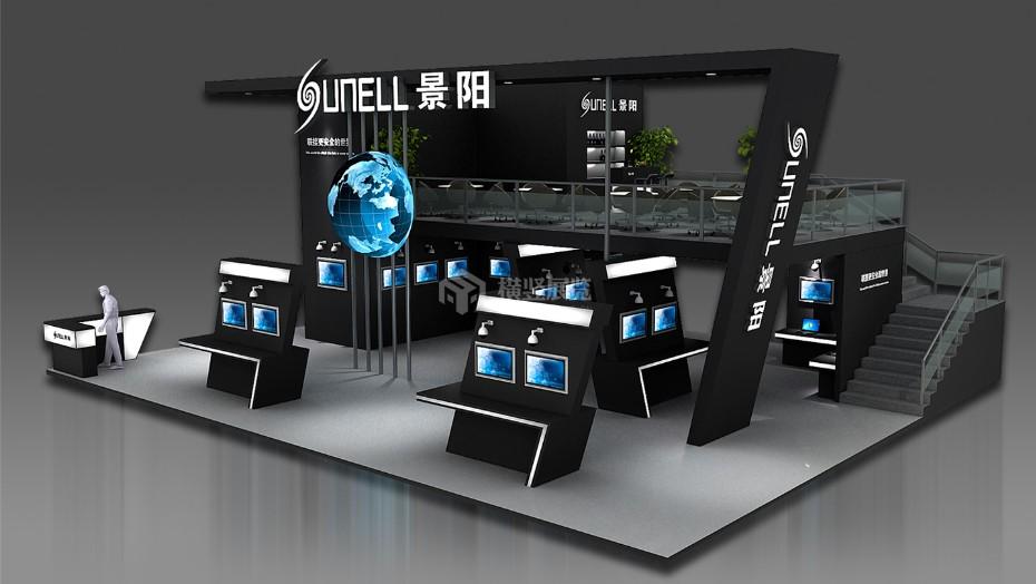 景阳-安防电子展展台设计搭建