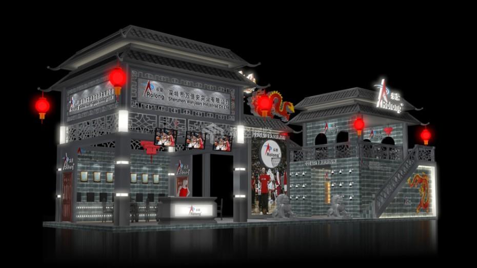 万家安-深圳安防电子展展台设计搭建