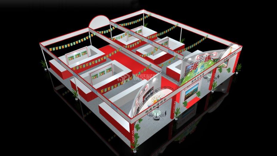 政府展展台设计搭建+海珠区+中博会